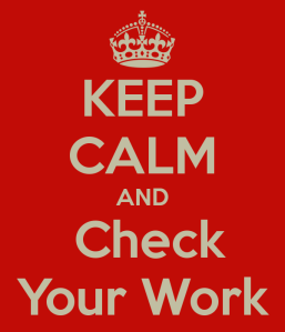 check your work