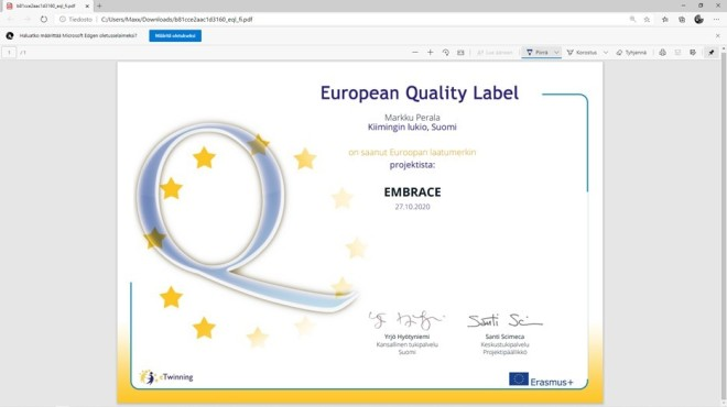 The European Quality Label for EMBRACE